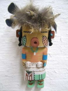 Old Style Hopi Carved Corn Dancer Traditional Rasping Katsina Doll