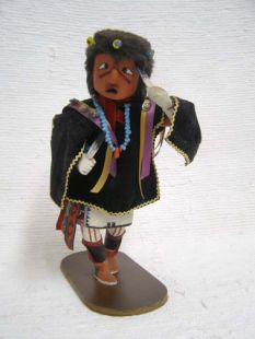 Antique Native American Hopi Carved Imitator Clown Katsina Doll