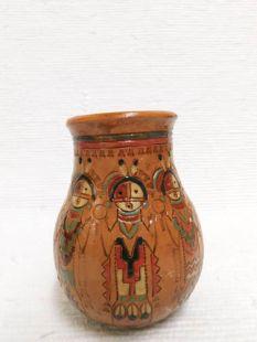 Native American Navajo Handbuilt Pitch Vase