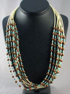 Native American Navajo Made Glass and Ghost Bead Necklaces