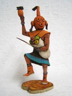 Native American Hopi Carved Mudhead Katsina Doll