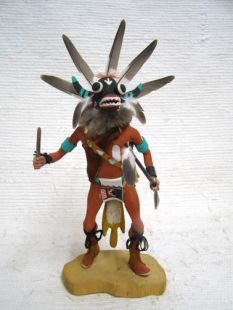 Antique Native American Hopi Carved Ogre Katsina Doll