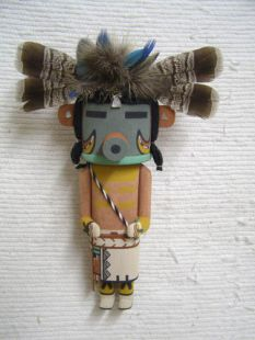 Old Style Hopi Carved Bean Traditional Katsina Doll