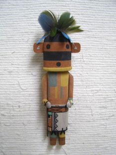 Old Style Hopi Carved Dragonfly Traditional Racer Katsina Doll