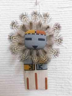 Old Style Hopi Carved Sunface Traditional Powerful Spirit Katsina Doll Ornament