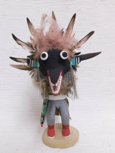 Old Style Hopi Carved Ogre Traditional Disciplinarian Katsina Doll
