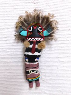 Old Style Hopi Carved Broadface Traditional Guard Katsina Doll