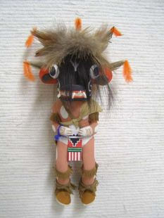 Old Style Hopi Carved Ogre Traditional Guard Katsina Doll