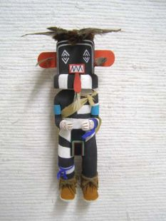 Old Style Hopi Carved Left Handed Traditional Hunter Katsina Doll