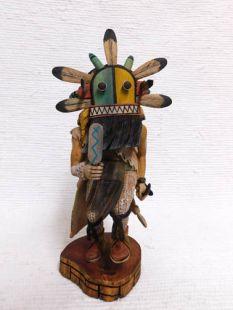 Native American Hopi Carved Four Horn Guard Katsina Doll
