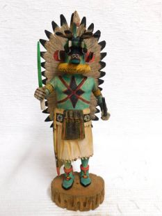 Native American Hopi Carved Chasing Star Planetary Katsina Doll--Blue