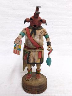 Native American Hopi Carved Mudhead Katsina Doll