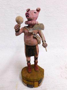 Native American Hopi Carved Pig Katsina Doll