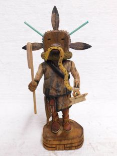 Native American Hopi Carved Eagle/Sun Clan Chief Katsina Doll