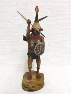 Native American Hopi Carved Warrior Twin Katsina Doll