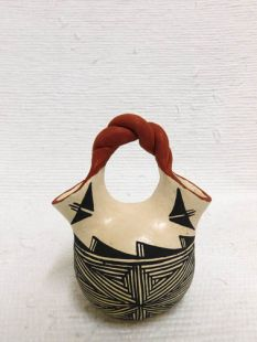 Native American Acoma Handbuilt and Handpainted Wedding Vase