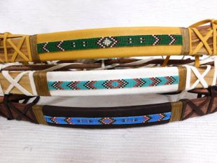Native American Navajo Made Kids Bow with Handbeaded Strip and Crossed Arrows