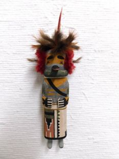 Old Style Hopi Carved Quail Traditional Runner Katsina Doll