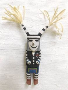 Old Style Hopi Carved Clown Traditional Katsina Doll