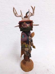 Native American Hopi Carved Deer Dancer Katsina Doll