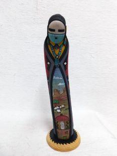 Native American Hopi Carved Navajo Maiden Dancer Katsina Sculpture