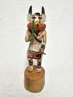 Native American Hopi Carved Prairie Falcon Runner Katsina Doll