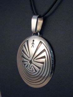 Native American Navajo Made Man in the Maze Pendant