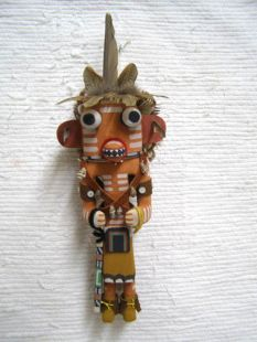 Old Style Hopi Carved Three-Stripe Traditional Warrior Katsina Doll