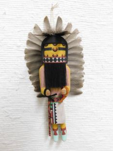 Old Style Hopi Carved Comanche Traditional Katsina Doll
