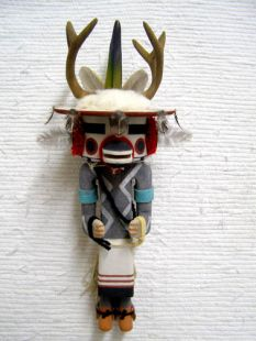 Old Style Hopi Carved Deer Dancer Traditional Katsina Doll