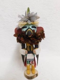 Old Style Hopi Carved Eagle Traditional Katsina Doll