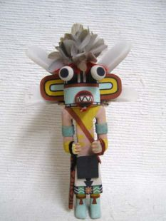 Old Style Hopi Carved Pig Traditional Katsina Doll