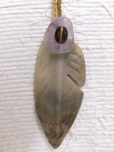 Native American Apache Carved Prayer Feather