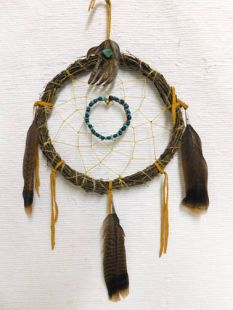 Native American Apache Made Dreamcatcher with Bear Paw