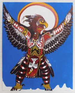 Native American Apache Made Eagle Dancer Painting