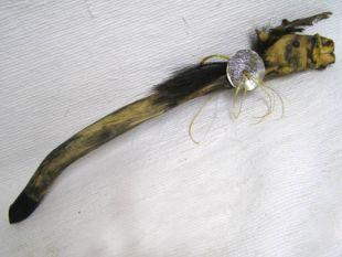 Native American Apache Made Ceremonial War Pony Spirit Dance Stick