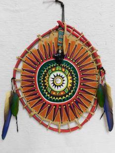 Native American Apache Made Turtle Dance Shield
