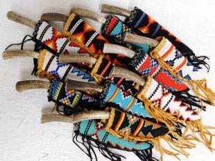 Native American Algonquin Made Lakota Designed Beaded Knife Sheaths