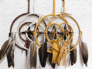 "6""--Native American Navajo Made Dreamcatcher Medicine Wheel Combination"