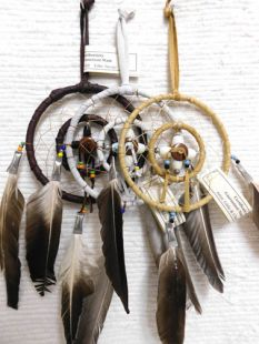 "4""--Native American Navajo Made Dreamcatcher Medicine Wheel Combination"