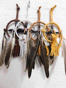 """3""""--Native American Navajo Made Medicine Wheel"""