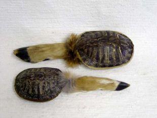 Native American Navajo Made Deer Foot and Turtle Rattle