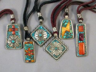 American Made Inlaid Pendants