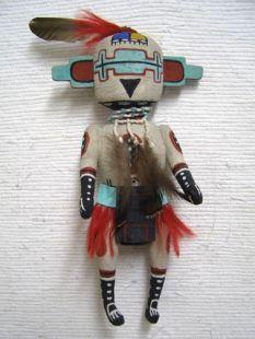 Old Style Hopi Carved Chowilawu Traditional Initiation Katsina Doll