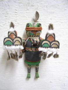 Old Style Hopi Carved Frog Traditional Rain Katsina Doll