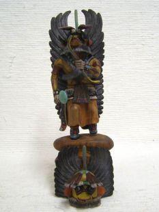 Native American Hopi Carved Chasing Star Planetary Katsina Doll--Yellow