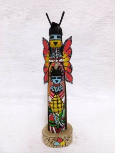 Native American Hopi Carved Butterfly Maiden Sculpture