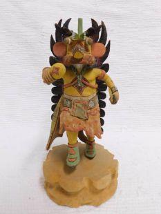 Native American Hopi Carved Chasing Star Planetary Katsina Doll