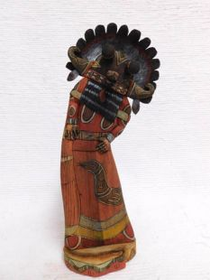 Native American Hopi Carved Broadface Guard Katsina Sculpture