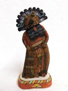 Native American Hopi Carved Broadface Guard Katsina Sculpture